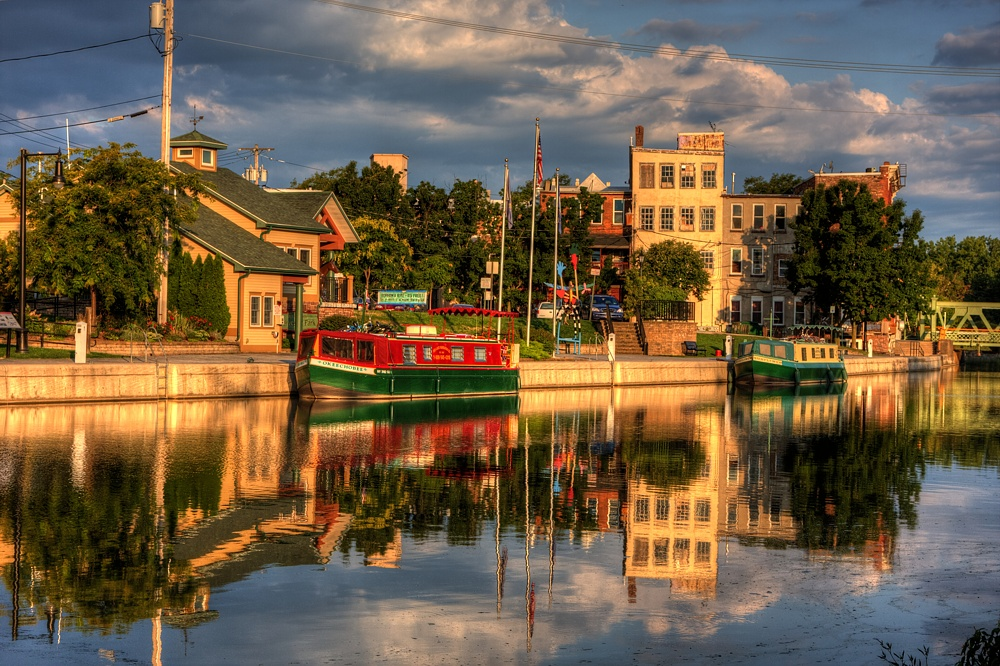 Packet Boat Erie Canal Sunrise Erie Packet Boat
