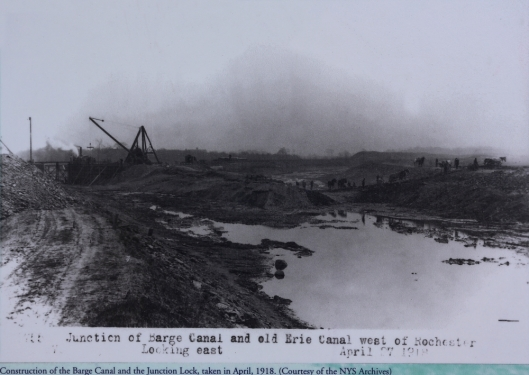 Close up View of the Junction Lock construction in 1918