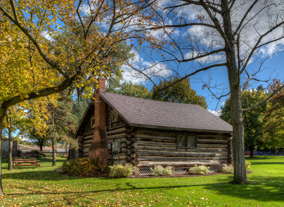 Superb img of Log Cabin on the Green in Geneseo Jazzersten's HDR Blog with #A38428 color and 1200x875 pixels