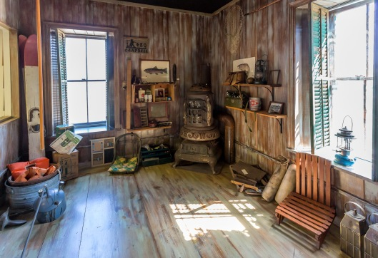 It Was Of A Hunters Cabin By The Lakefront From Way Back In Last Century They Even Had Hoosier Cabinet And An Oak Ice Box On Display Along With